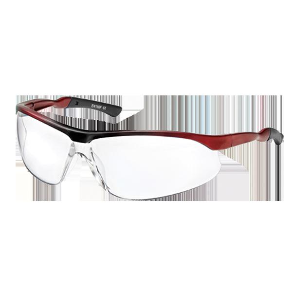 Ochelari protectie sport policarbonat/nylon rosu